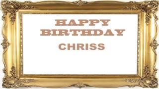 Chriss   Birthday Postcards & Postales - Happy Birthday