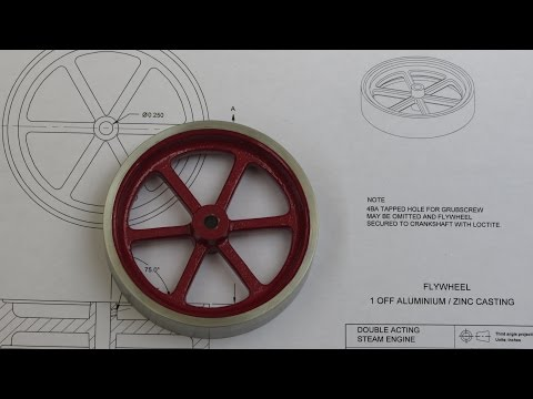 Building The Myfordboy Steam Engine Part 2 Flywheel