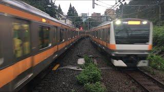 【ちゅうおうせん】中央線快速 E233系(上下線)@四ツ谷駅