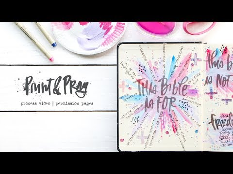 Permission Pages: Print & Pray Bible Journaling Process Video