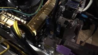 Майнинг Эфира ETH на ферме на базе Asus Z87-PRO(V EDITION) 7 видеокарт RX480