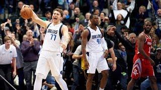 Luka Doncic Clutch 11 Points vs Rockets Comeback! 2018-19 NBA Season