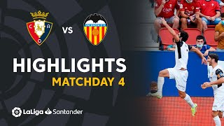 Resumen de CA Osasuna vs Valencia CF (1-4)