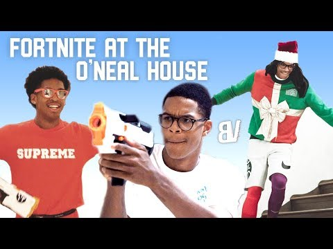 Real Life Fortnite at the O'Neal House! Shareef O'Neal, Christopher Bros + More Battle It Out
