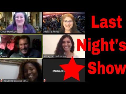 Tawanna B Smith, Ashley Katchadourian and Carew Papritz on Last Night's Show with Miz Meliz
