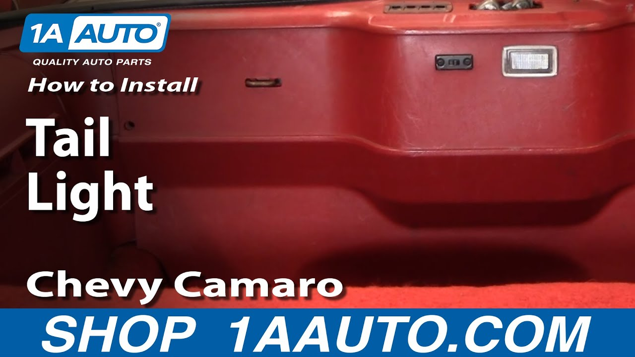 How To Install Replace Tail Light Chevy Camaro Iroc Z 82 92 1aauto 1977 Engine Wiring Diagram Rear Body Taillight 1aautocom Youtube
