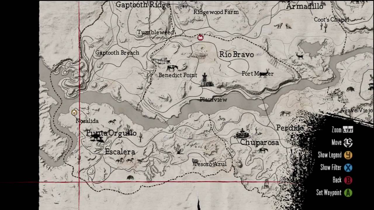Red Dead Redemption Nosalida Gang Hideout Location On Map - Red dead redemption us marshal outfit map