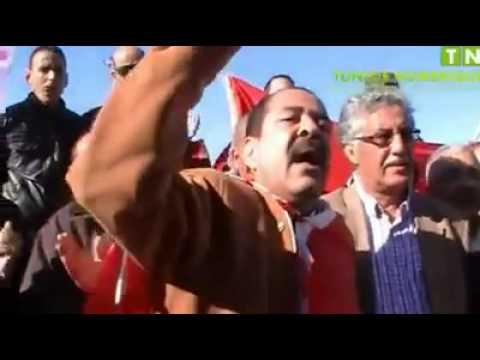 Chokri Belaid le 2-12-2012 à l'aeroport Tunis- Carthage en provenance du Maroc