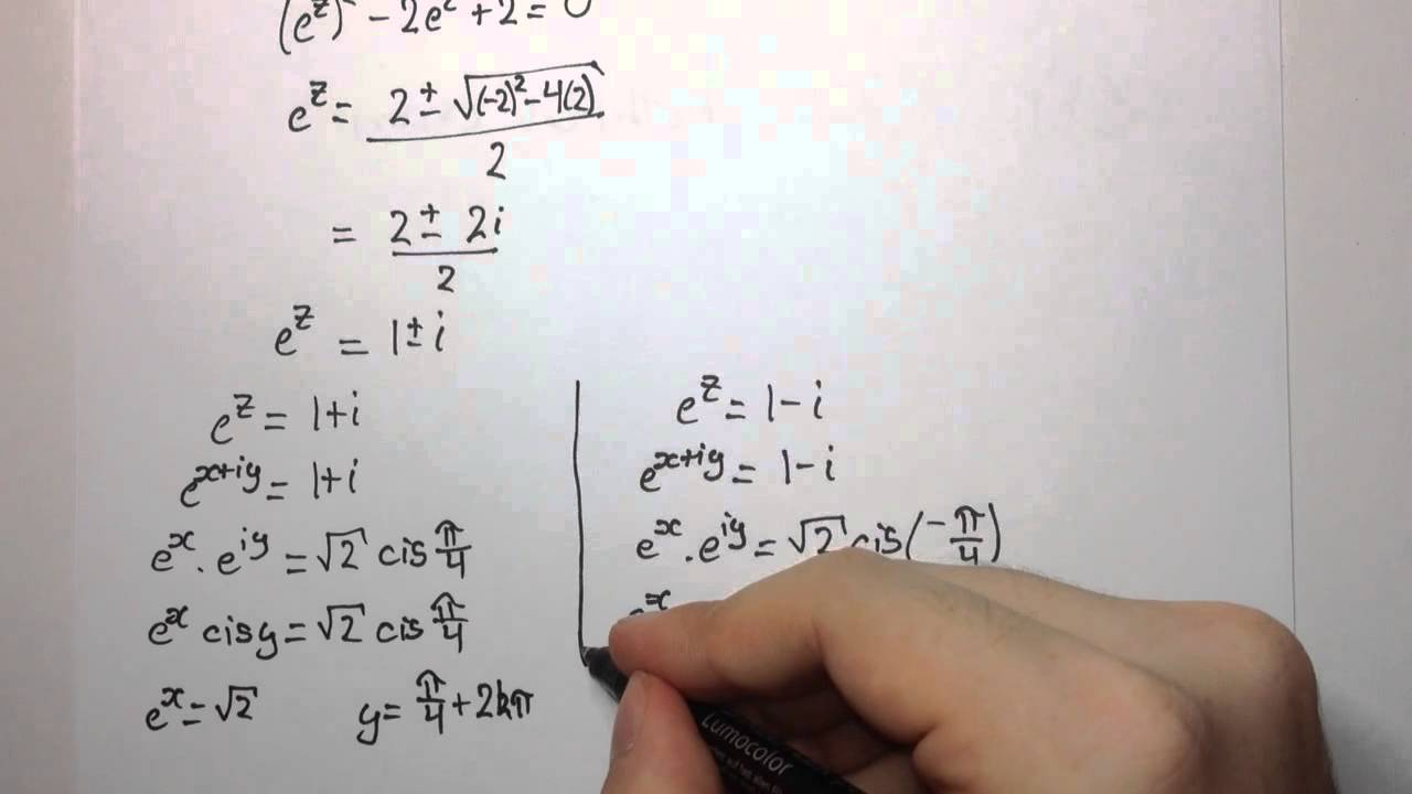how to solve complex number equations