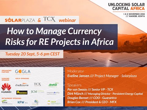 Webinar: How to manage currency risks for RE projects in Africa