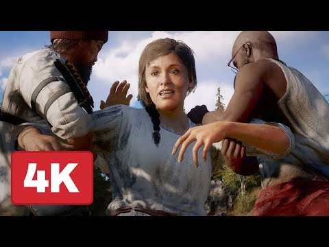 Far Cry 5: Saving Your Comrades Co-Op Gameplay (4K 60fps)