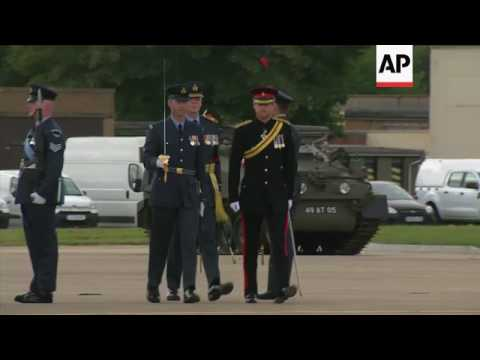Prince Harry presents a new Color to RAF regiment