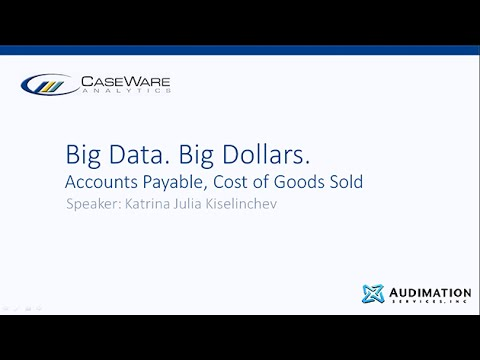 Big Data, Big Dollars: Accounts Payable, Cost of Goods Sold
