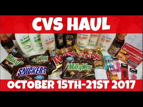 cvs haul october 15th 21st 2017 youtube
