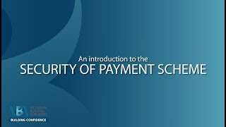Introduction to the Security of Payment Act