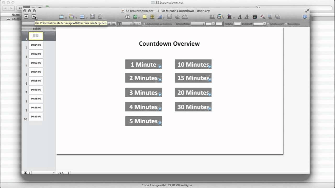 how to create a keynote countdown timer youtube