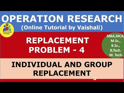 Individual And Group Replacement - Replacement Problem - Operation Research - Part 4