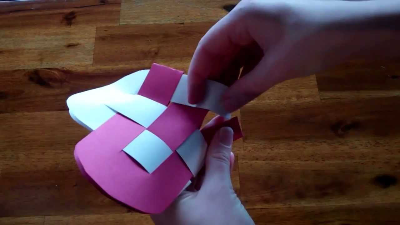 Valentines Day Craft Idea How To Make A Heart Basket