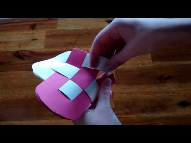 Valentines Day Craft Idea - How to make a Heart Basket