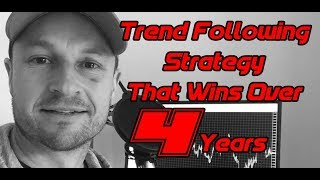 Trend Following Strategy That Wins Over 4 Years Trading Forex