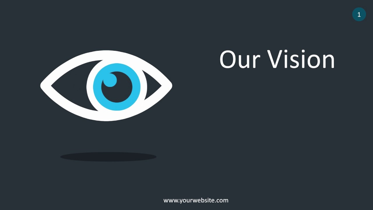 Our Vision Infographic Animated Powerpoint Template