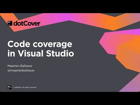 DotCover For Code Coverage In Visual Studio