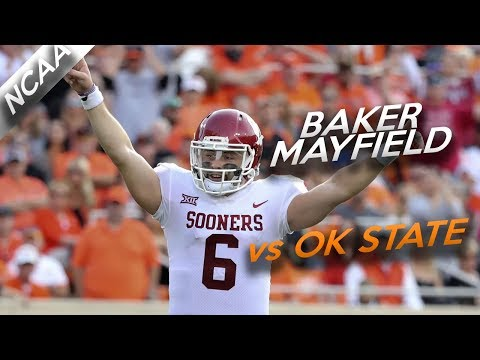 Baker Mayfield Highlights vs Oklahoma State // 24/36 598 Yards, 6 Total TDs // 11.4.17