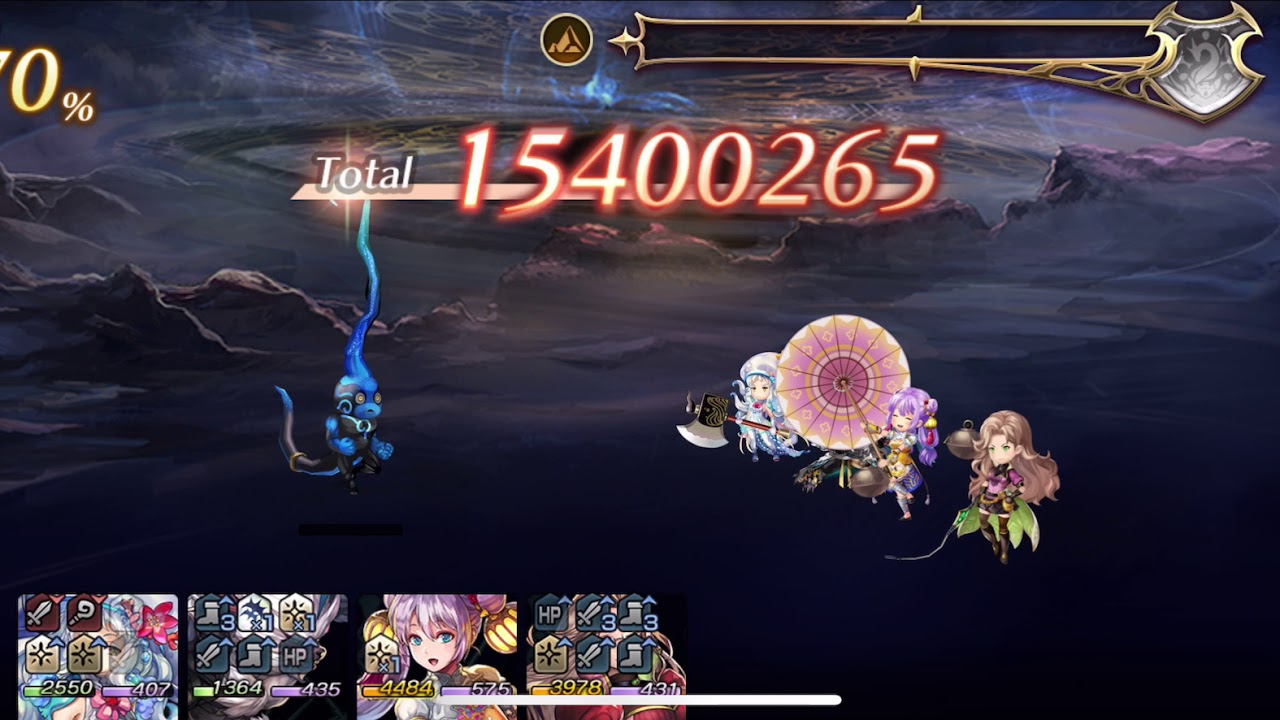 【Another Eden】【穿越時空的貓】170小藍地裂陣4T - YouTube