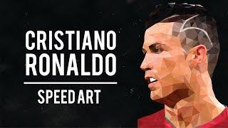 Cristiano Ronaldo Low Poly SpeedArt   Adobe Illustrator CS6