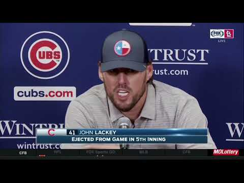 "Lackey on ump: ""He missed the pitch"""