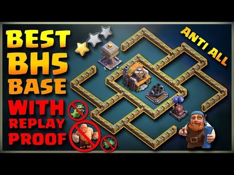 BEST Builder Hall 5 Base (BH5) + Defense Replay / BH5 Base Layout | Clash Of Clans