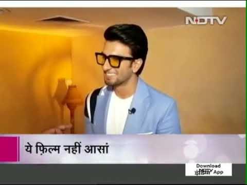 Ranveer Singh interview with NDTV   Padmaavat