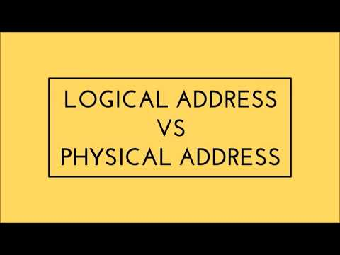 Difference between logical and physical address space | Operating System