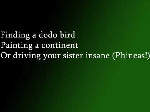Phineas And Ferb Theme song With Lyrics
