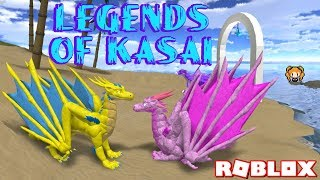 ROBLOX LEGENDS OF KASAI! Dragon's Game - Volcano, School, Arena, Springs