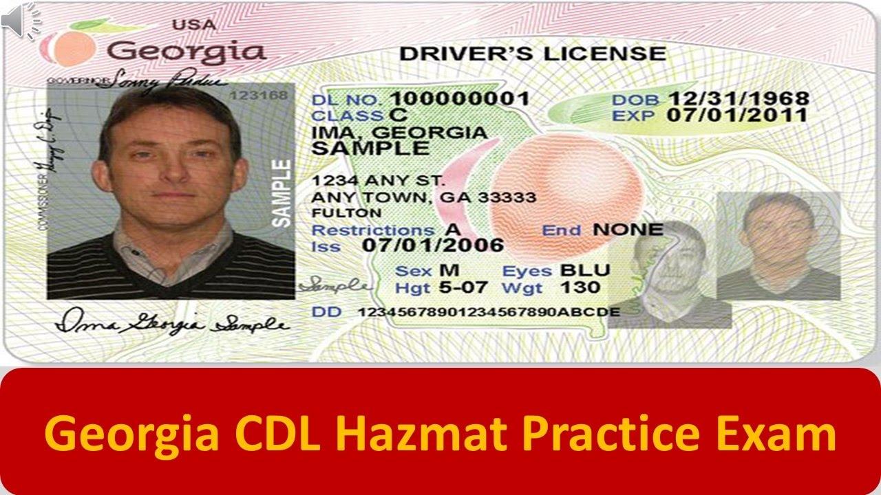 image about Cdl Hazmat Practice Test Printable identify Ga CDL Hazmat Train Check