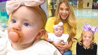Baby Posie Gets Her Ears Pierced At 4 Months Old!!! *CUTEST VIDEO EVER*