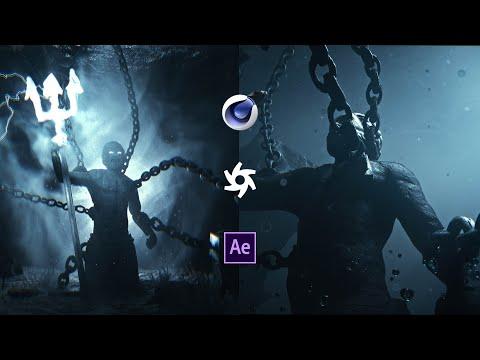 Poseidon - Cinema 4D Breakdown (Octane render, After Effects)