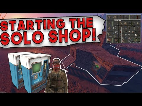 THE START OF MY SOLO SHOP!! | Rust SOLO SURVIVAL Gameplay | The Shop Wipe #1