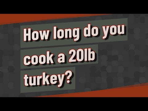 How long do you cook a 20lb turkey?
