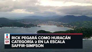 'Rick' acelera su desplazamiento; podría tocar tierra entre Michoacán y Guerrero