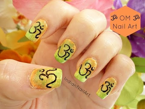 OM Meditation Nails! - IndianNailArt