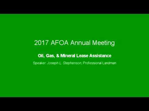 Oil, Gas, & Mineral Lease Assistance