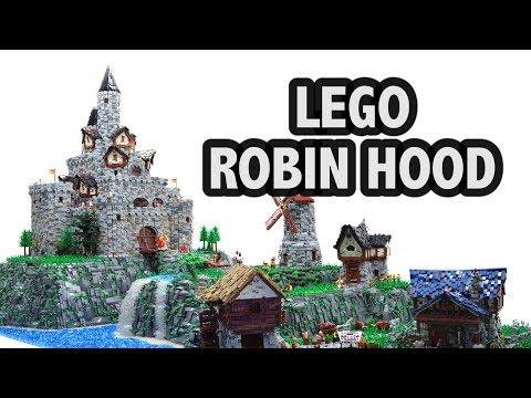 Huge LEGO Robin Hood Castle Village   Brickworld Chicago 2017