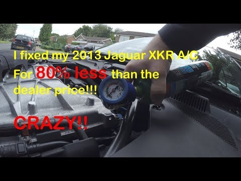 2013 Jaguar XKR A/C air conditioning DIY fix and some V8 Engine Tunes