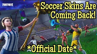 *SWEATY* Soccer Skins Are COMING BACK To Fortnite! | Official Release Date Leaked