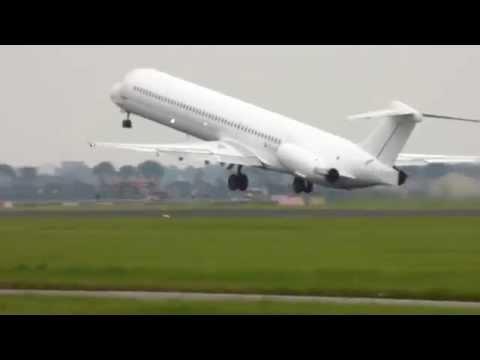 AMS to NDR, Nador, Morocco - McDonnell Douglas MD-83 (EC-JUG)