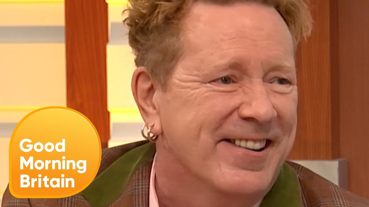 Resultado de imagen de johnny rotten Good Morning Britain