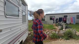 Crazy girl cracks egg on head!! Some person laughing in the background)