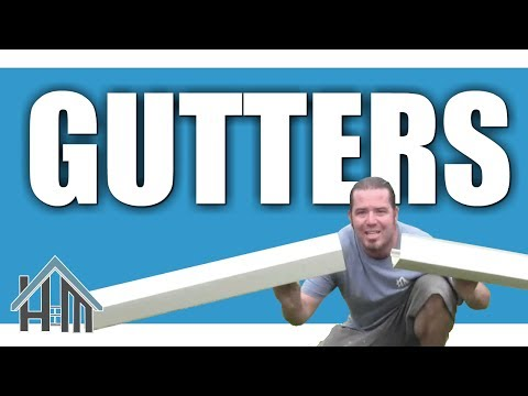 How to install replace gutters by yourself. Easy! Home Mender.